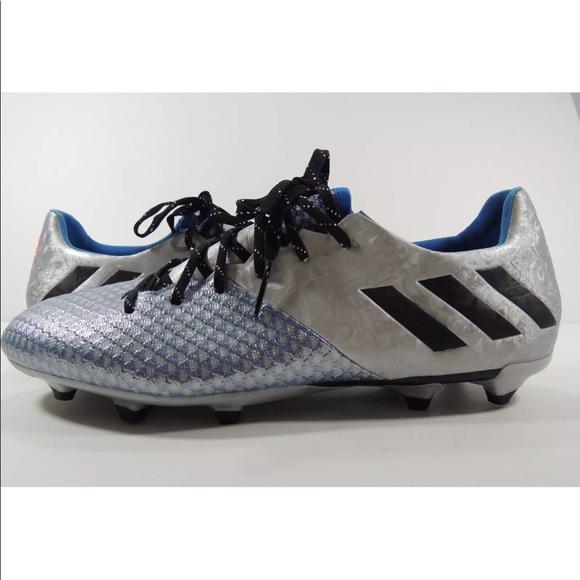 b61abdb80b3b Adidas Mens Messi 16.2 FG Soccer Cleats Silver